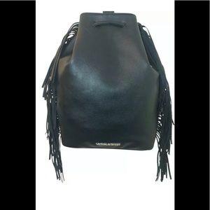 Victoria Secrete Faux Leather Fringe Backpack Bag